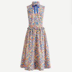 J.Crew Sleeveless Button-up Dress in Liberty Print